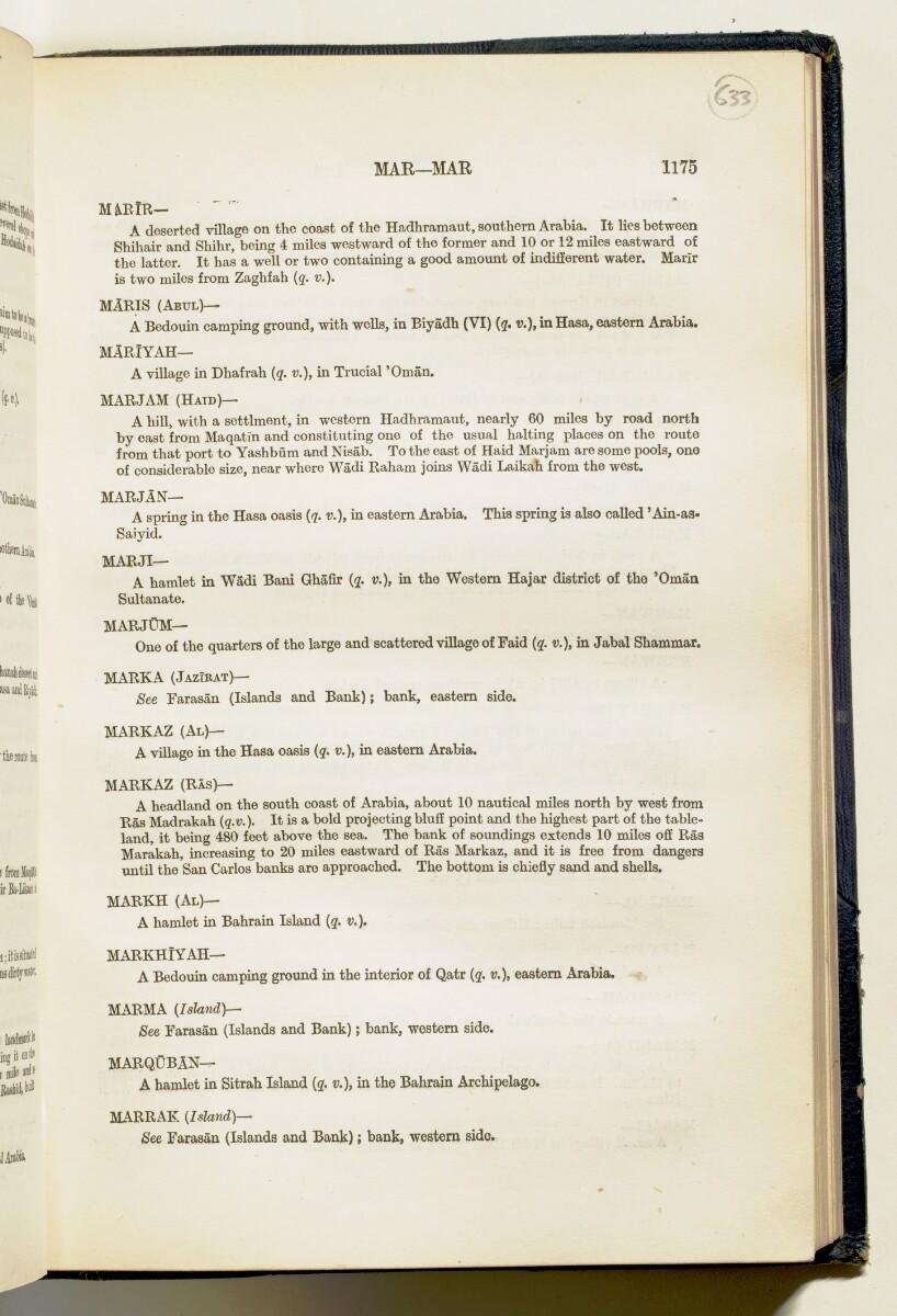 'Gazetteer of Arabia Vol. II' [1175] (224/688)