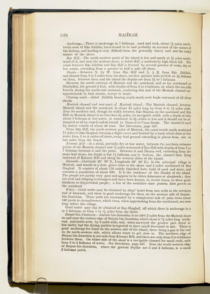 'Gazetteer of Arabia Vol. II' [1184] (233/688)