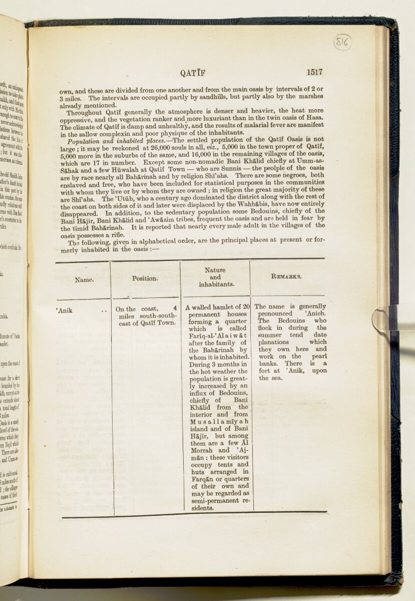'Gazetteer of Arabia Vol. II' [1517] (590/688)