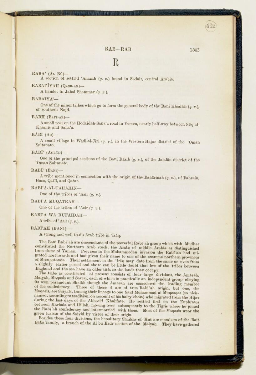 'Gazetteer of Arabia Vol. II' [1543] (622/688)