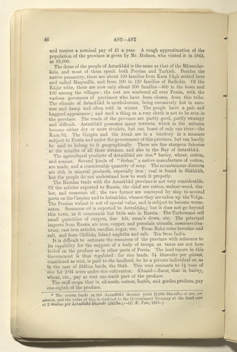 'GAZETTEER OF PERSIA. VOLUME I' [27v] (59/820)