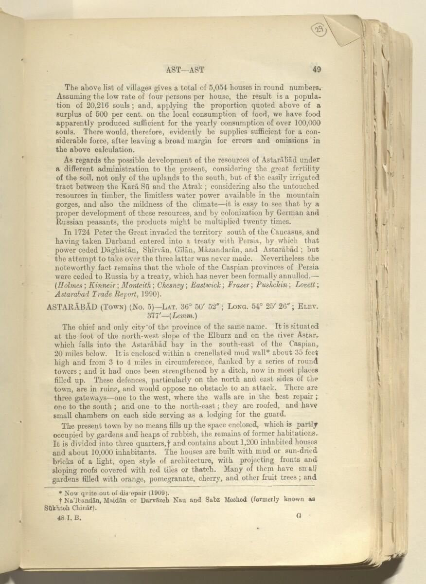 'GAZETTEER OF PERSIA. VOLUME I' [29r] (62/820)