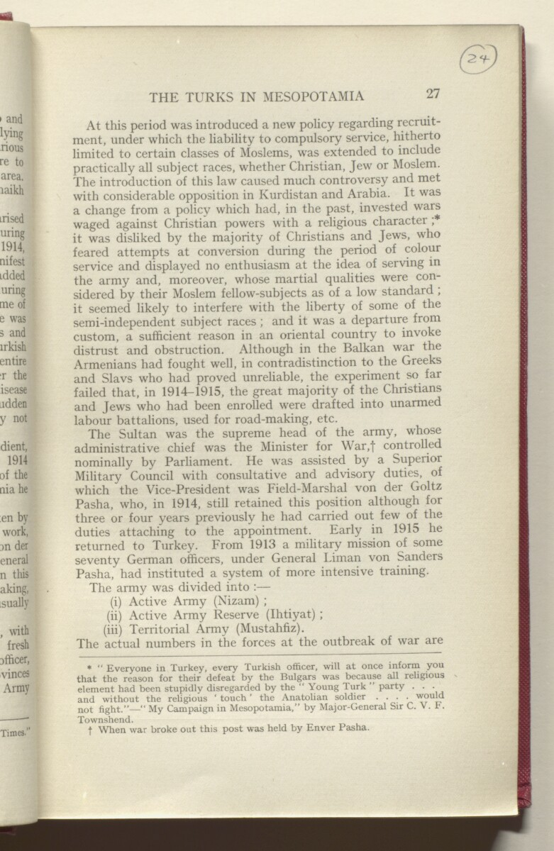 'HISTORY OF THE GREAT WAR BASED ON OFFICIAL DOCUMENTS. THE CAMPAIGN IN MESOPOTAMIA 1914-1918. VOLUME I.' [24r] (52/454)