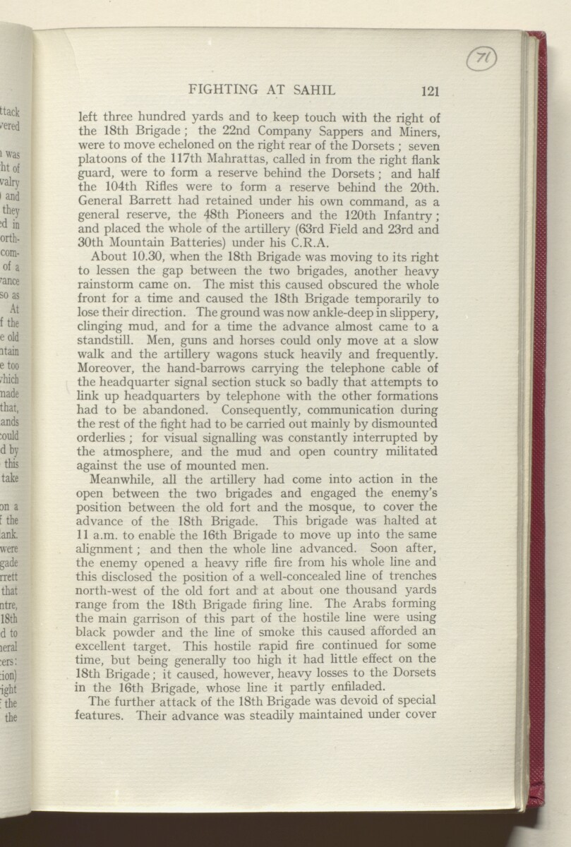 'HISTORY OF THE GREAT WAR BASED ON OFFICIAL DOCUMENTS. THE CAMPAIGN IN MESOPOTAMIA 1914-1918. VOLUME I.' [‎71r] (146/454)