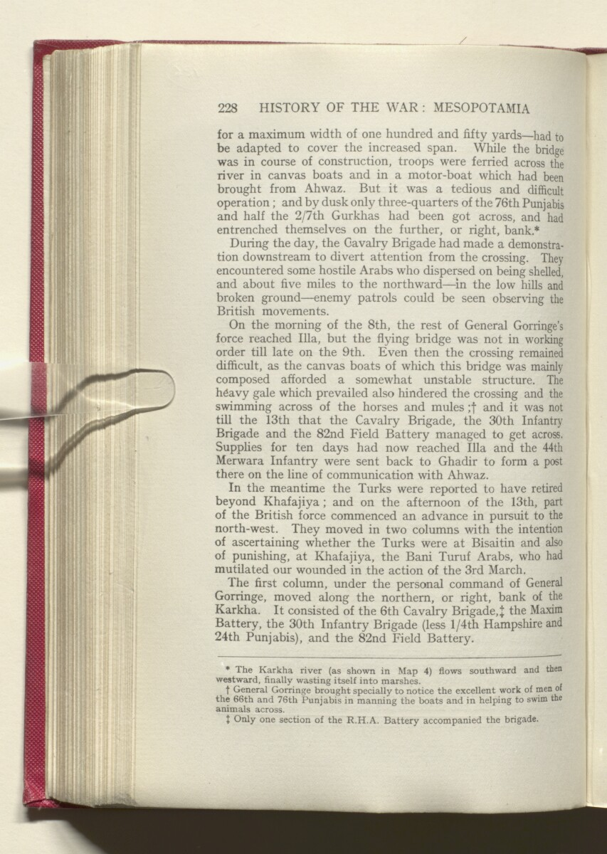 'HISTORY OF THE GREAT WAR BASED ON OFFICIAL DOCUMENTS. THE CAMPAIGN IN MESOPOTAMIA 1914-1918. VOLUME I.' [126v] (257/454)