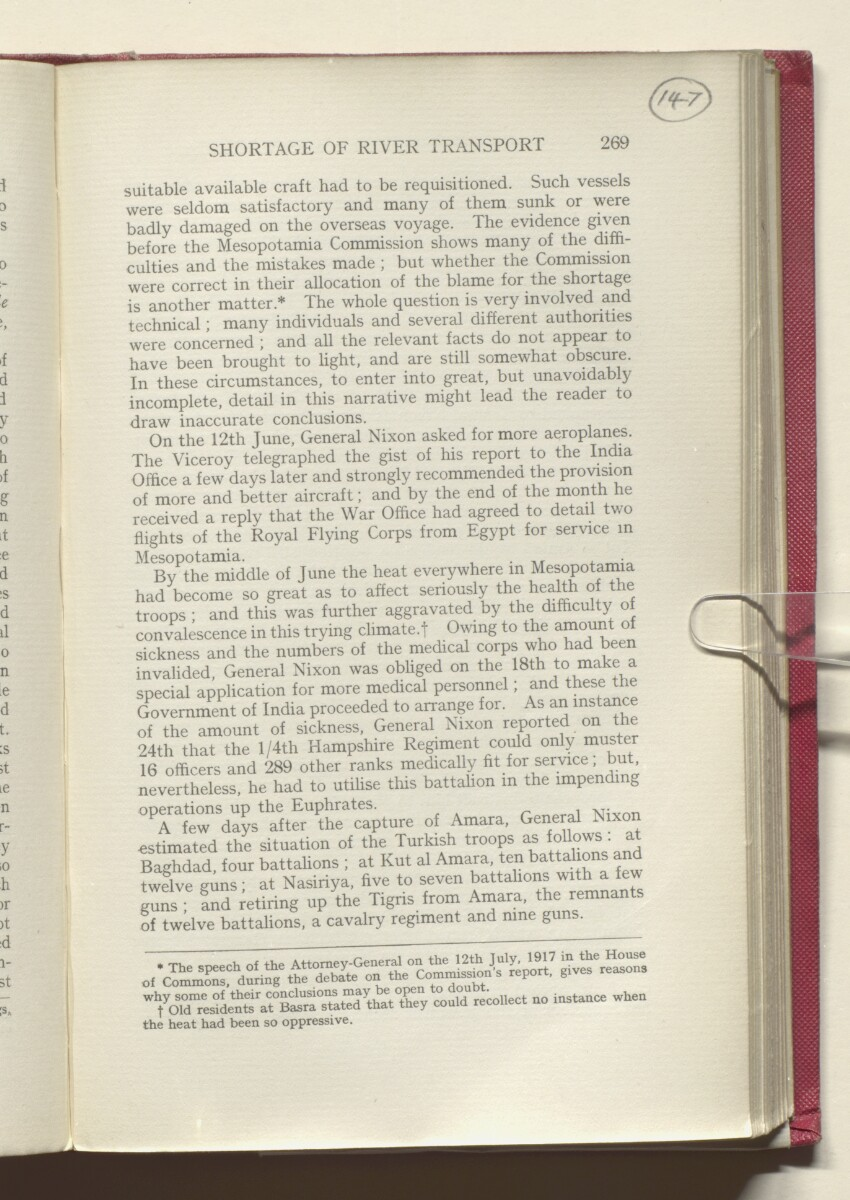 'HISTORY OF THE GREAT WAR BASED ON OFFICIAL DOCUMENTS. THE CAMPAIGN IN MESOPOTAMIA 1914-1918. VOLUME I.' [147r] (298/454)