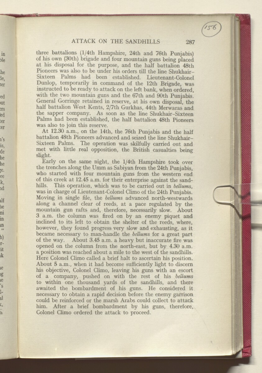 'HISTORY OF THE GREAT WAR BASED ON OFFICIAL DOCUMENTS. THE CAMPAIGN IN MESOPOTAMIA 1914-1918. VOLUME I.' [‎156r] (316/454)