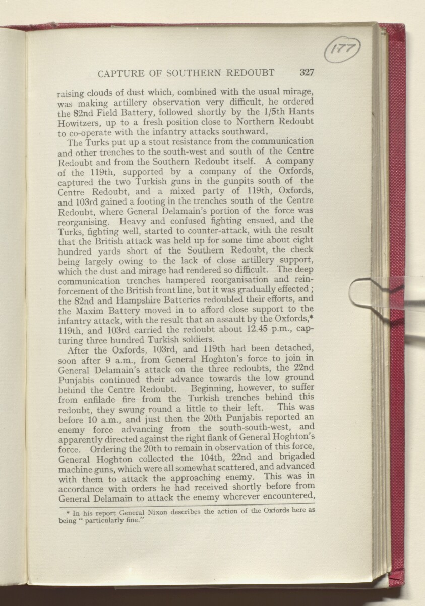 'HISTORY OF THE GREAT WAR BASED ON OFFICIAL DOCUMENTS. THE CAMPAIGN IN MESOPOTAMIA 1914-1918. VOLUME I.' [177r] (358/454)
