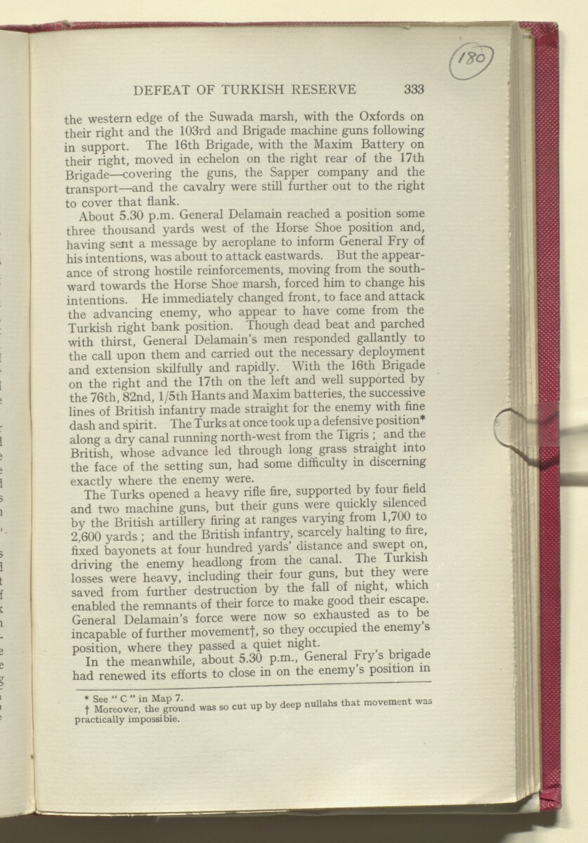 'HISTORY OF THE GREAT WAR BASED ON OFFICIAL DOCUMENTS. THE CAMPAIGN IN MESOPOTAMIA 1914-1918. VOLUME I.' [180r] (364/454)