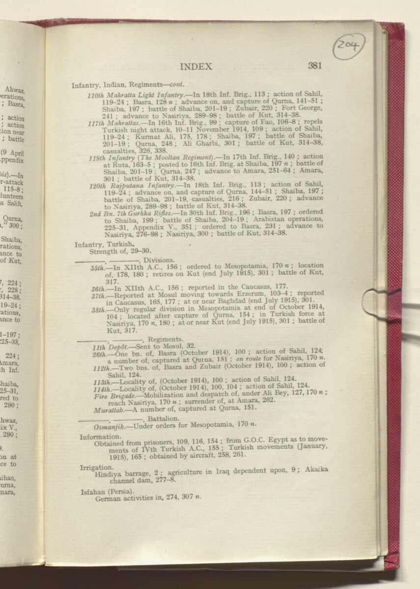 'HISTORY OF THE GREAT WAR BASED ON OFFICIAL DOCUMENTS. THE CAMPAIGN IN MESOPOTAMIA 1914-1918. VOLUME I.' [204r] (412/454)